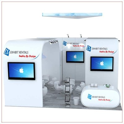20x20 Trade Show Booth Rental Package 474 - Front View - LV Exhibit Rentals in Las Vegas