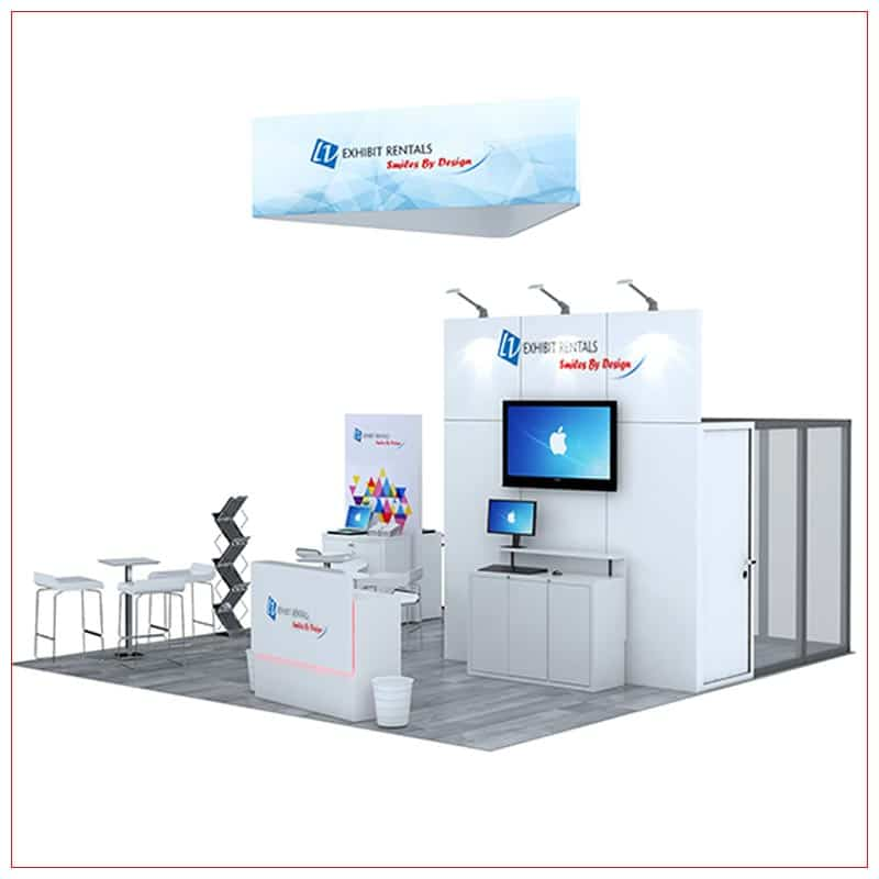 20x20 Trade Show Booth Rental Package 476 - LV Exhibit Rentals in Las Vegas