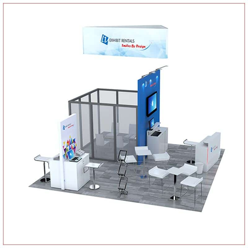 20x20 Trade Show Booth Rental Package 476 - Side View - LV Exhibit Rentals in Las Vegas