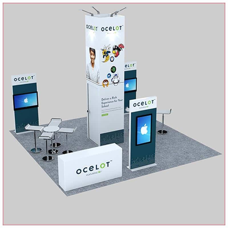 20x20 Trade Show Booth Rental Package 478 - LV Exhibit Rentals in Las Vegas