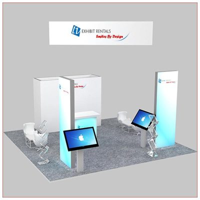 20x20 Trade Show Booth Rental Package 479 - LV Exhibit Rentals in Las Vegas