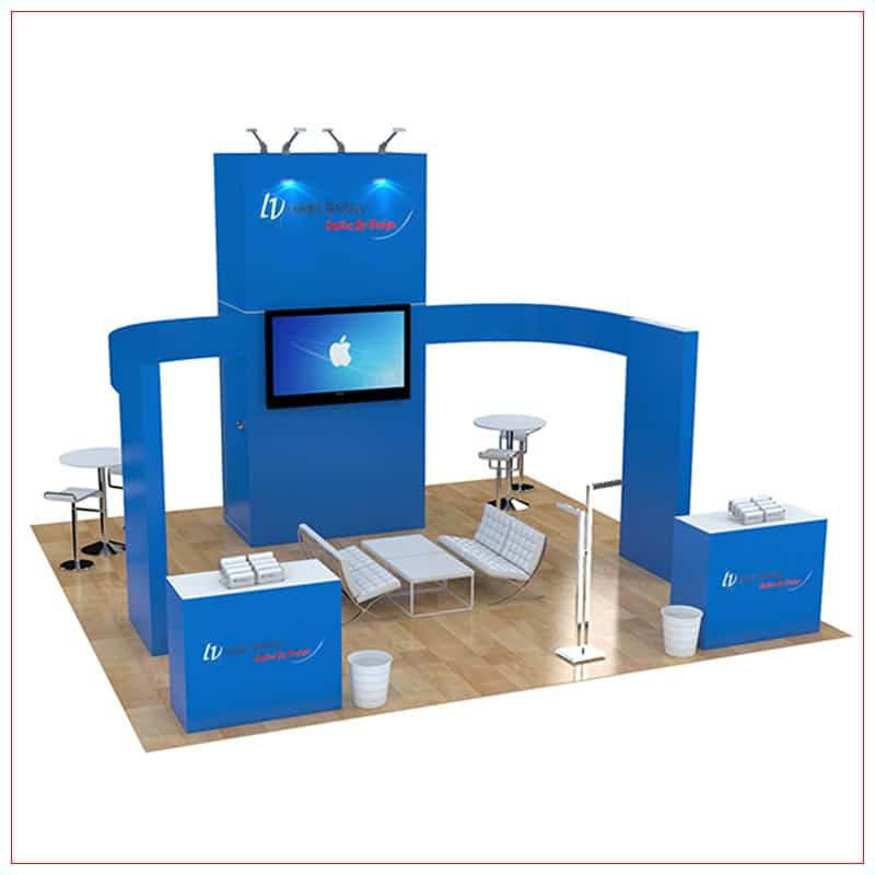 20x20 Trade Show Booth Rental Package 480 - LV Exhibit Rentals in Las Vegas