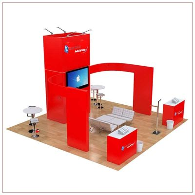 20x20 Trade Show Booth Rental Package 480 - Side View - LV Exhibit Rentals in Las Vegas
