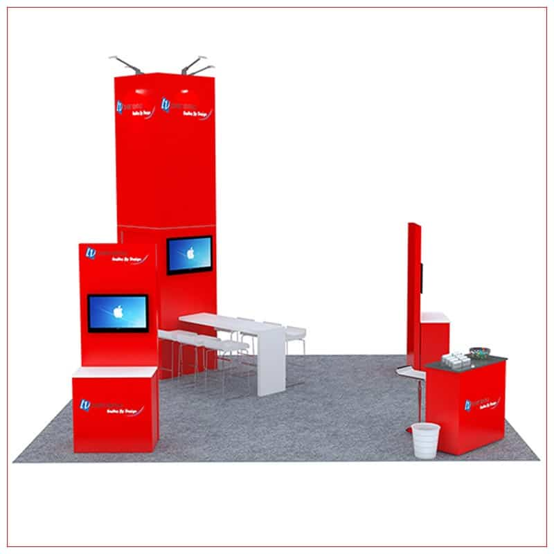20x20 Trade Show Booth Rental Package 481 - LV Exhibit Rentals in Las Vegas