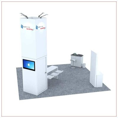 20x20 Trade Show Booth Rental Package 481 - Rear View - LV Exhibit Rentals in Las Vegas