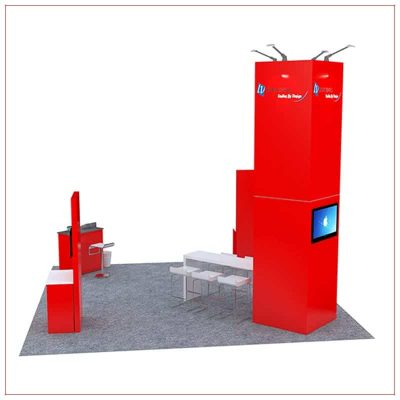 20x20 Trade Show Booth Rental Package 481 - Side View - LV Exhibit Rentals in Las Vegas