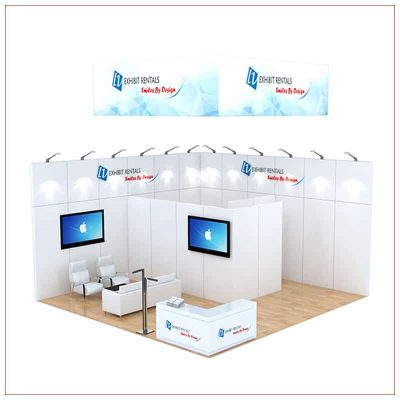 20x20 Trade Show Booth Rental Package 484 - LV Exhibit Rentals in Las Vegas