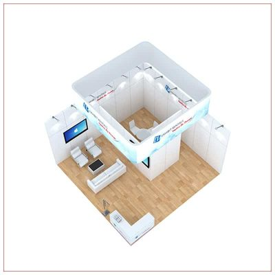 20x20 Trade Show Booth Rental Package 484 - Top-Down View - LV Exhibit Rentals in Las Vegas