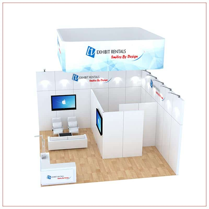 20x20 Trade Show Booth Rental Package 484 - side view - LV Exhibit Rentals in Las Vegas