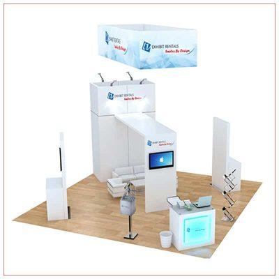 20x20 Trade Show Booth Rental Package 485 - LV Exhibit Rentals in Las Vegas