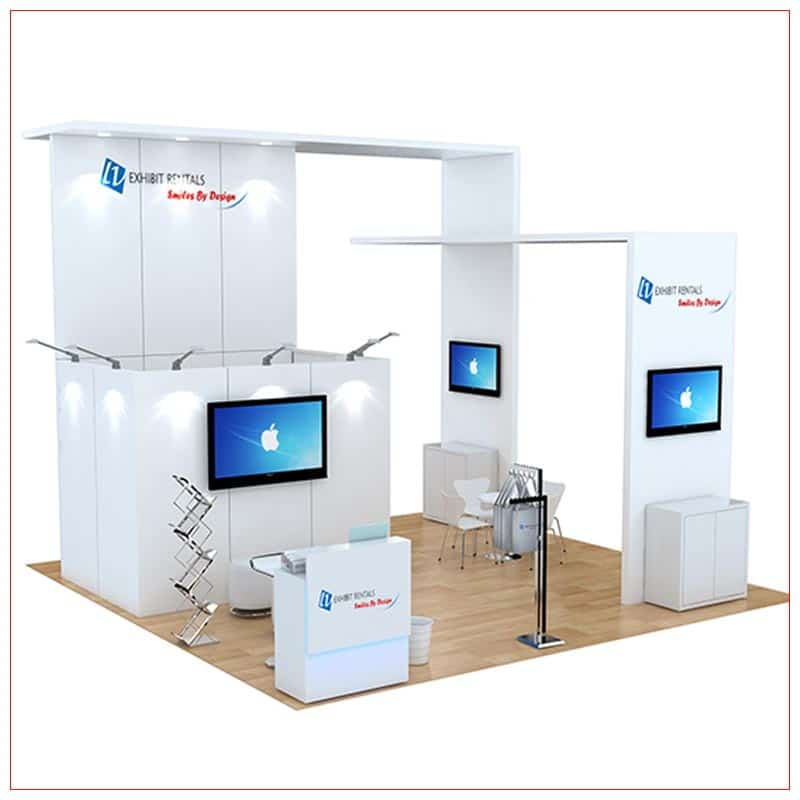 20x20 Trade Show Booth Rental Package 487 - LV Exhibit Rentals in Las Vegas