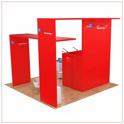 20x20 Trade Show Booth Rental Package 487 - Rear View - LV Exhibit Rentals in Las Vegas