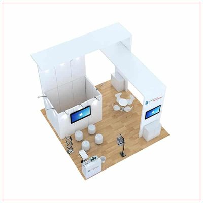20x20 Trade Show Booth Rental Package 487 - Top-Down View - LV Exhibit Rentals in Las Vegas