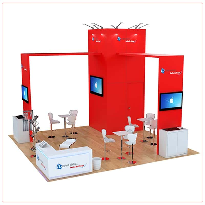 20x20 Trade Show Booth Rental Package 488 - LV Exhibit Rentals in Las Vegas