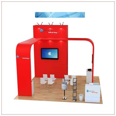 20x20 Trade Show Booth Rental Package 489 - Front View - LV Exhibit Rentals in Las Vegas