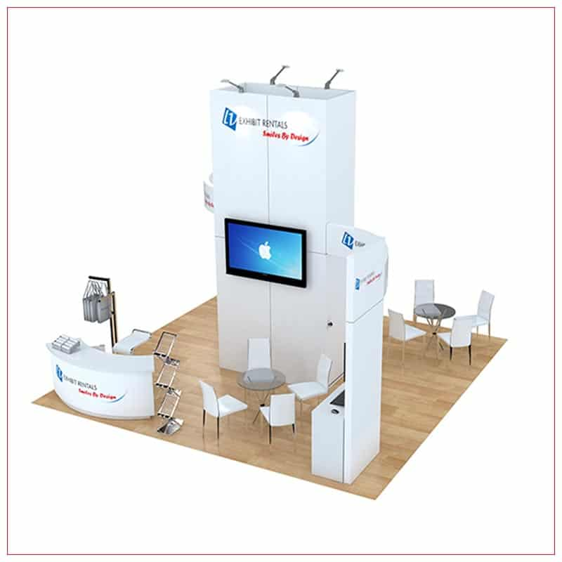 20x20 Trade Show Booth Rental Package 491 - Front View - LV Exhibit Rentals in Las Vegas