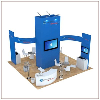 20x20 Trade Show Booth Rental Package 491 - LV Exhibit Rentals in Las Vegas