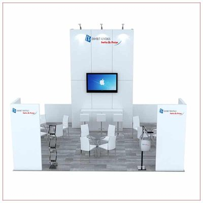 20x20 Trade Show Booth Rental Package 492 - Front View - LV Exhibit Rentals in Las Vegas
