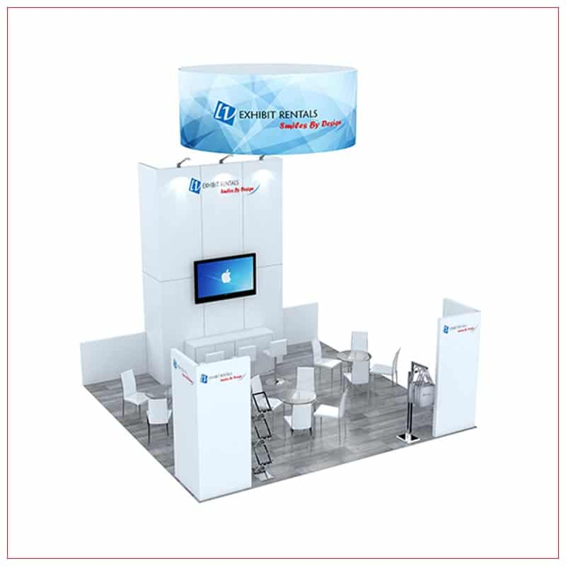 20x20 Trade Show Booth Rental Package 492 - LV Exhibit Rentals in Las Vegas
