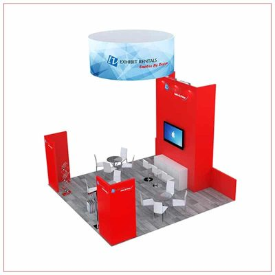 20x20 Trade Show Booth Rental Package 492 - Side View - LV Exhibit Rentals in Las Vegas