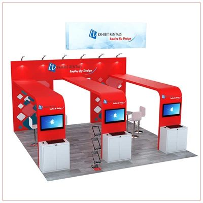 20x20 Trade Show Booth Rental Package 493 - LV Exhibit Rentals in Las Vegas