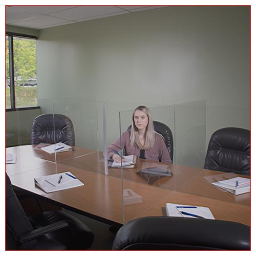 Prevention Solutions - Conference Table Divider Sneeze Guard from LV Exhibit Rentals in Las Vegas