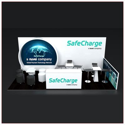 10x20 Trade Show Booth Rental Package 254 - Front View - LV Exhibit Rentals in Las Vegas
