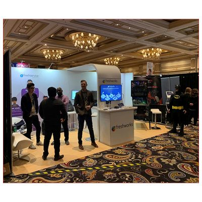 10x20 Trade Show Booth Rental Package 255 - Freshworks - LV Exhibit Rentals in Las Vegas