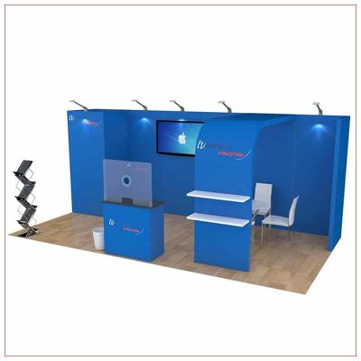 10x20 Trade Show Booth Rental Package 256 - Angle View - LV Exhibit Rentals in Las Vegas