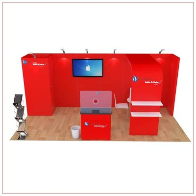 10x20 Trade Show Booth Rental Package 256 - Front View - LV Exhibit Rentals in Las Vegas