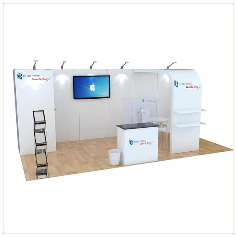 10x20 Trade Show Booth Rental Package 256 - LV Exhibit Rentals in Las Vegas