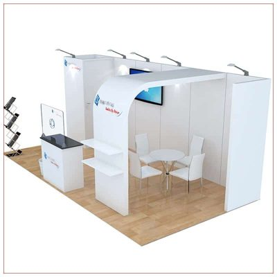 10x20 Trade Show Booth Rental Package 256 - Side View - LV Exhibit Rentals in Las Vegas