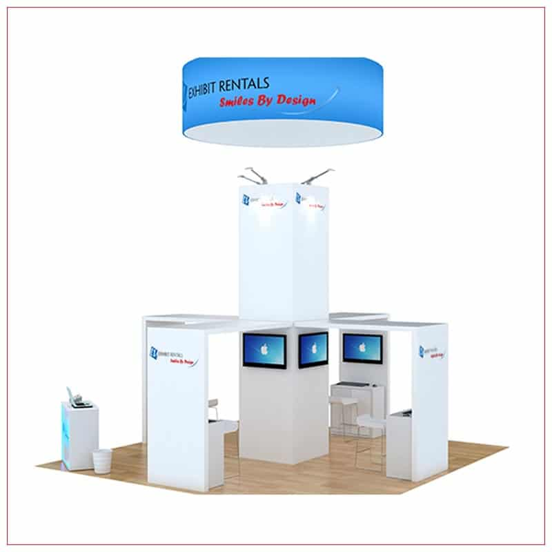 20x20 Trade Show Booth Rental Package 800 - Side View - LV Exhibit Rentals in Las Vegas
