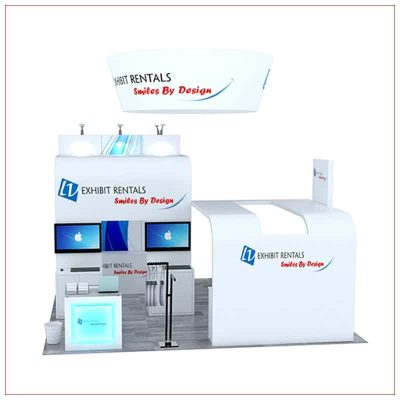 20x20 Trade Show Booth Rental Package 494 - Front View - LV Exhibit Rentals in Las Vegas