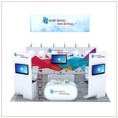 20x20 Trade Show Booth Rental Package 496 - LV Exhibit Rentals in Las Vegas