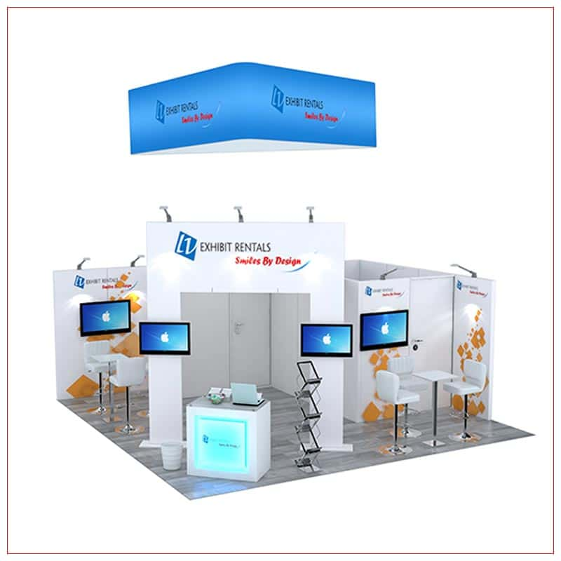 20x20 Trade Show Booth Rental Package 497 - LV Exhibit Rentals in Las Vegas