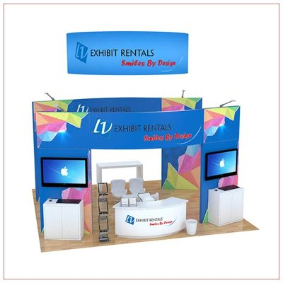 20x20 Trade Show Booth Rental Package 499 - LV Exhibit Rentals in Las Vegas