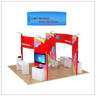 20x20 Trade Show Booth Rental Package 499 - Side View - LV Exhibit Rentals in Las Vegas