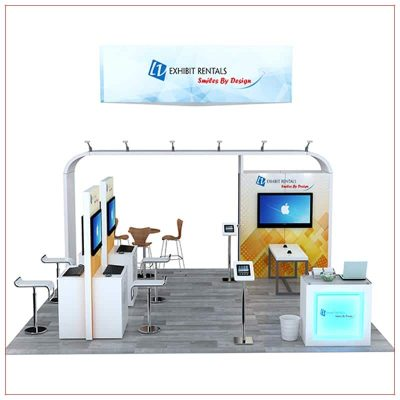 20x20 Trade Show Booth Rental Package 801 - Front View - LV Exhibit Rentals in Las Vegas