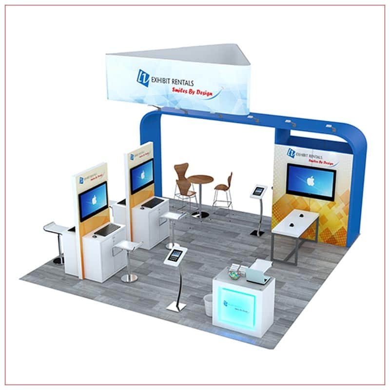 20x20 Trade Show Booth Rental Package 801 - LV Exhibit Rentals in Las Vegas