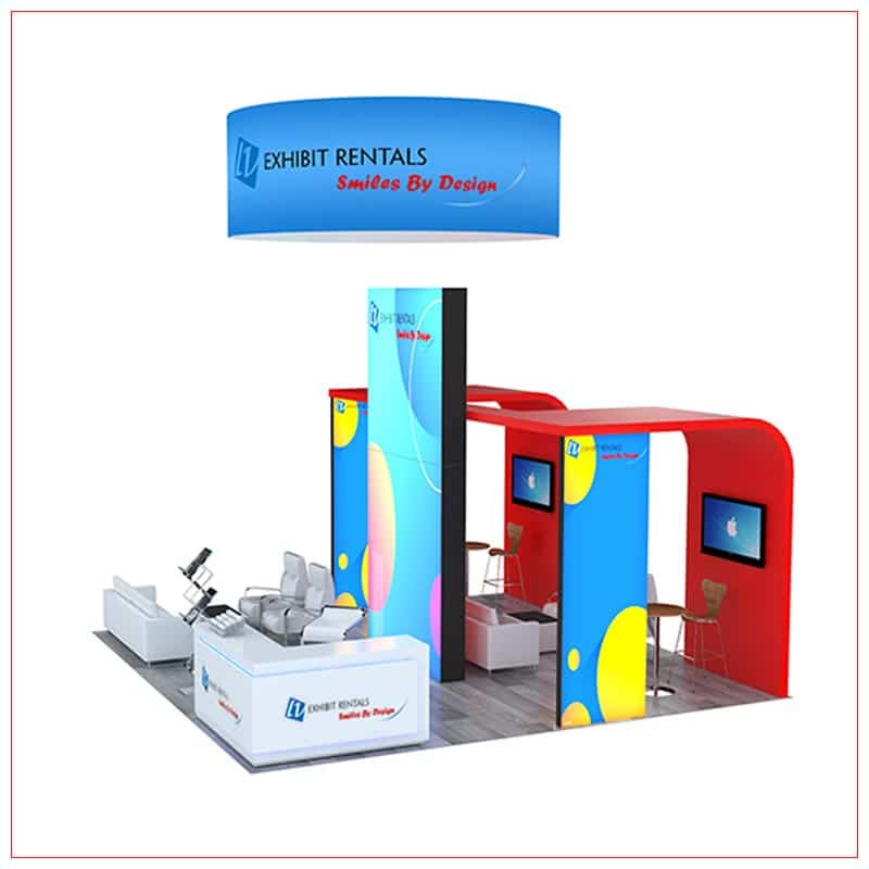 20x20 Trade Show Booth Rental Package 803 - Side View - LV Exhibit Rentals in Las Vegas