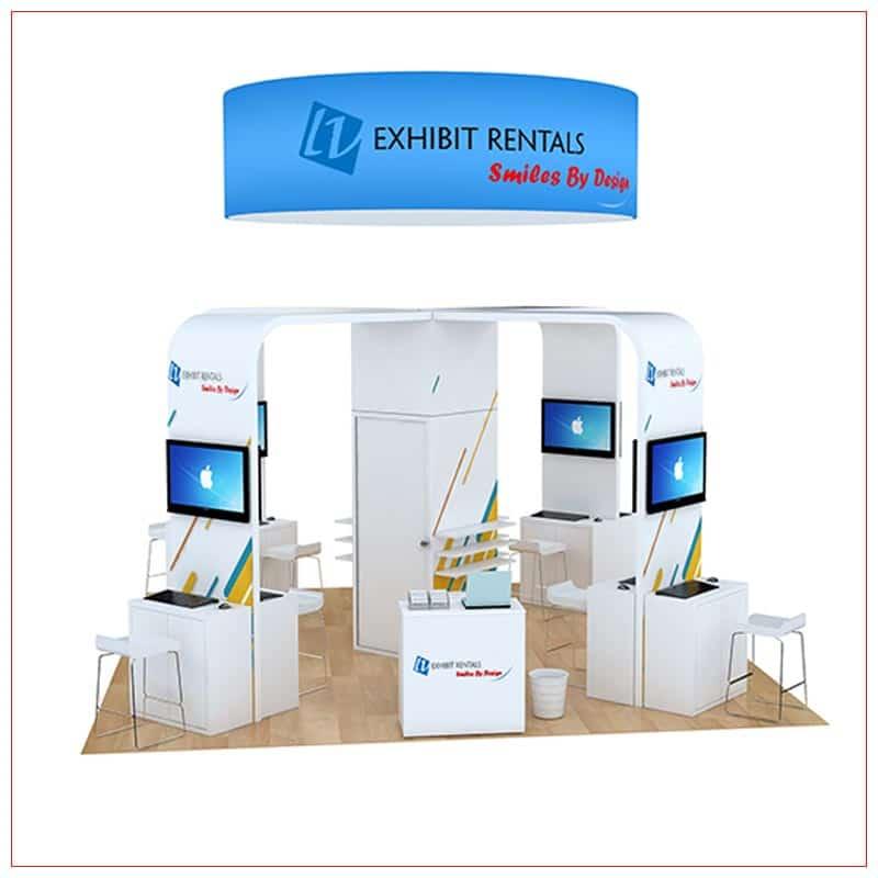 20x20 Trade Show Booth Rental Package 804 - LV Exhibit Rentals in Las Vegas