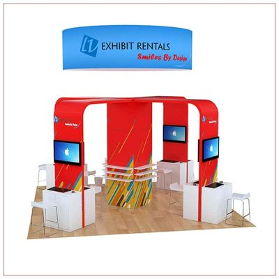 20x20 Trade Show Booth Rental Package 804 - Rear View - LV Exhibit Rentals in Las Vegas