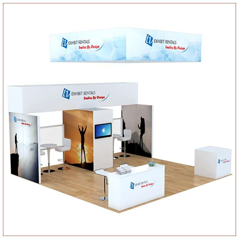 20x20 Trade Show Booth Rental Package 806 - LV Exhibit Rentals in Las Vegas