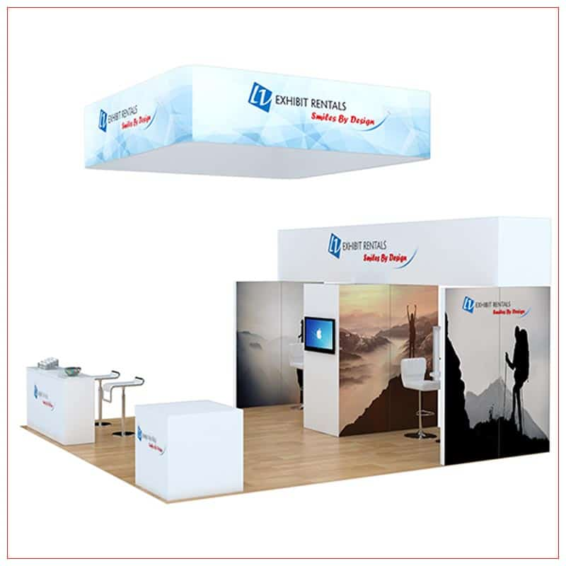20x20 Trade Show Booth Rental Package 806 - Side View - LV Exhibit Rentals in Las Vegas