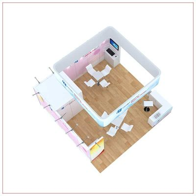 20x20 Trade Show Booth Rental Package 808 - Top-Down View - LV Exhibit Rentals in Las Vegas