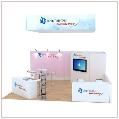20x20 Trade Show Booth Rental Package 809 - Front View - LV Exhibit Rentals in Las Vegas