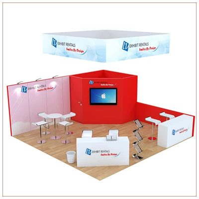 20x20 Trade Show Booth Rental Package 809 - LV Exhibit Rentals in Las Vegas