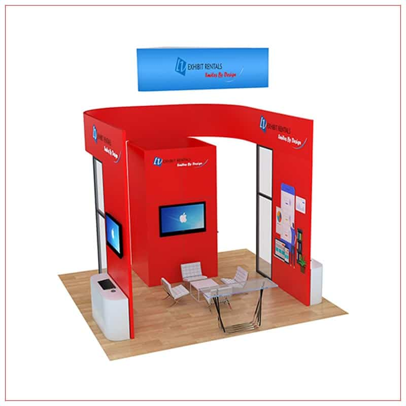 20x20 Trade Show Booth Rental Package 811 - LV Exhibit Rentals in Las Vegas