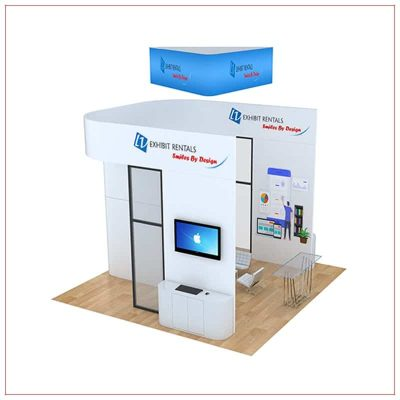 20x20 Trade Show Booth Rental Package 811 - Side View - LV Exhibit Rentals in Las Vegas